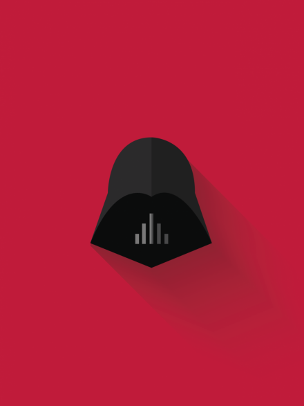 Darth vader minimalist poster by creativeflip store on the for Minimal art face